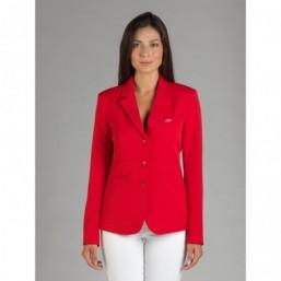 Naska Lady - Veste de concours équestre - Modèle femme - couleur Rouge
