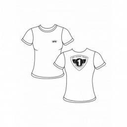 Tee-shirt KRT blanc pour femme