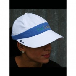 White and Blue GPA FIRST LADY Baseball cap visor