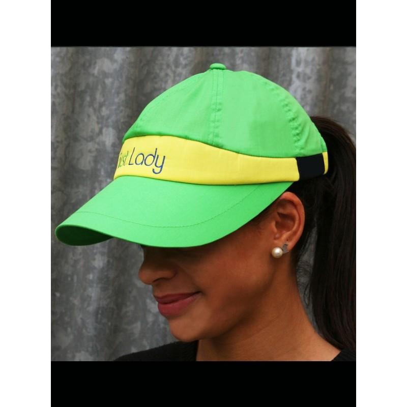Green and Yellow GPA FIRST LADY Baseball cap visor