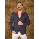 Naska Men - Equestrian show jacket - For man - Color navy with red collar