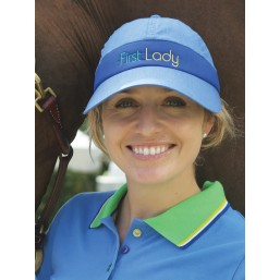 Blue and navy GPA FIRST LADY Baseball cap visor