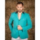 Naska Men - Equestrian show jacket - For man - Color green with black collar