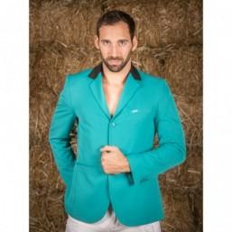 Naska Men - Veste de concours équestre - Modèle Homme - couleur verte à col noir